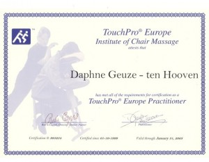 TouchPro Stoelmassage Practitioner